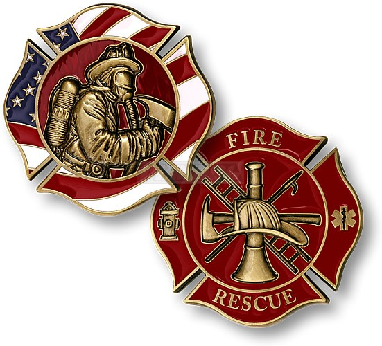 Police Firefighters Challenge Coins
